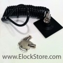 Universal tablet lock - glue on plate with coiled cable lock - Black - Maclocks Europe ElockStore - CL15UTL