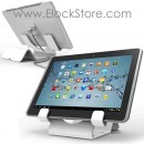 Universal Tablet Security Holder with Universal Tablet Lock - White - Straight cable lock - Maclocks CL12UTH WB